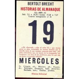 HISTORIAS DE ALMANAQUE: 19 MIERCOLES. BERTOLT  BRECHT